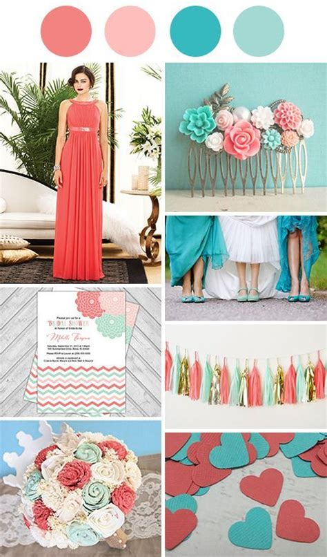 25 best ideas about aqua coral weddings on mint coral weddings color schemes