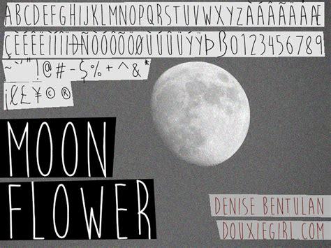 Dafont Moonflower | moon flower font dafont com