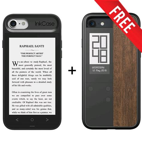 inkcase e ink second screen for iphone 8 7 6s 6 with free inkcase digital smart