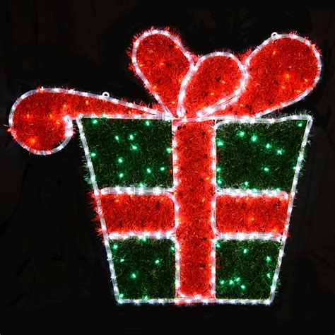 white led rope light gift box christmas decoration new
