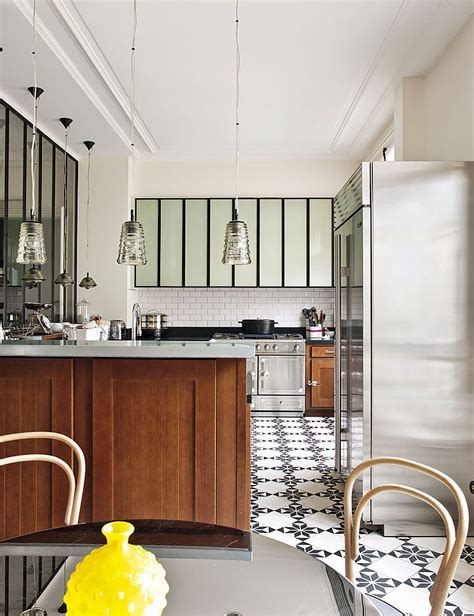 parisian kitchen design decorating parisian style chic modern apartment by benhamou