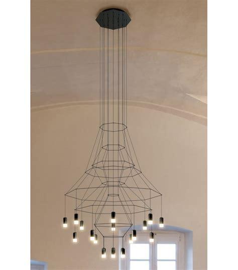 illuminazione a sospensione led wireflow lada a sospensione 20 led vibia milia shop