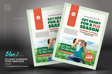 flu shot caign flyer templates by kinzi21 graphicriver