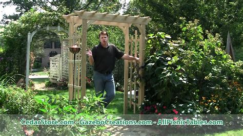treated pine rose arbor pergola contemporary pergolas treated pine rose arbor pergola from cedarstorecom youtube