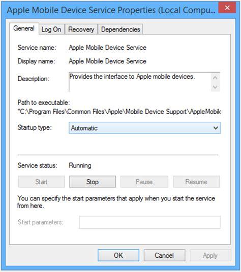 apple mobile service device restart the apple mobile device service amds on windows