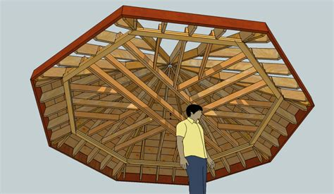 Design Basics Two Story Home Plans Exploring Octagonal Roof Framing With Sketchup Fine