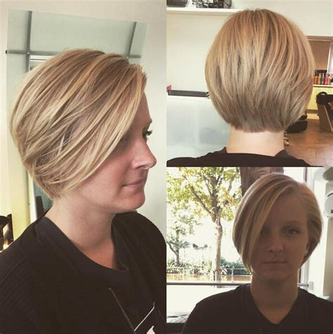 a frame haircuts short and high stacked 27 perfect bob haircuts with bangs pretty designs