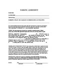 parking space lease template sle parking agreement free
