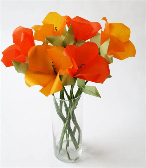 origami poppy flower california poppies origami flower bouquet live with it