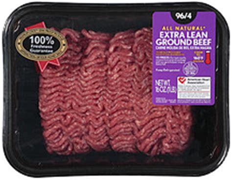 protein 4 oz ground beef all lean ground beef 96 4 16 0 oz nutrition