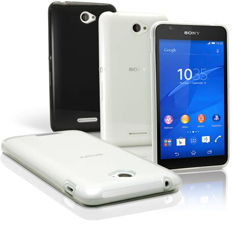 Protector With Stand For Sony Xperia E4 igadgitz glossy tpu gel skin cover for sony xperia e4 2015 e2104 screen protector