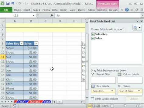 Change Pivot Table Source Data Excel Magic Trick 556 Change Pivottable Source Data Pivot Table
