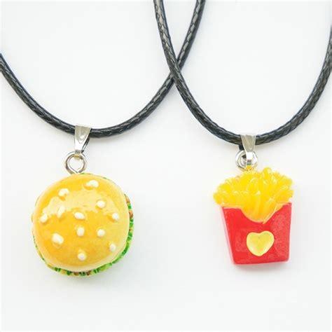 imagenes de hamburguesas kawaii collar hamburguesa y papas para novios pareja amigos