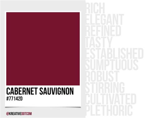 cabernet color how does the color cabernet sauvignon 77142d make you