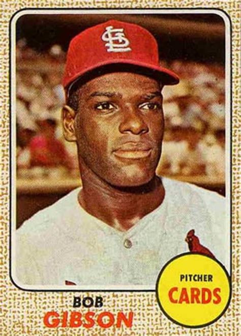 1968 topps bob gibson #100 baseball card value price guide