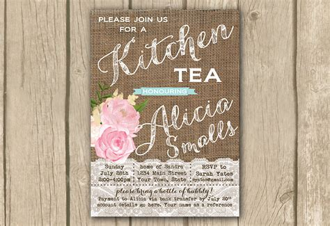 kitchen tea party invitation ideas kitchen tea onepaperheart stationary invitations