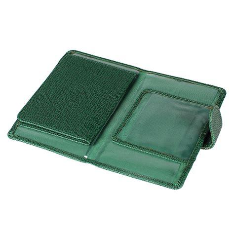 portefeuille porte documents voiture et moto vert