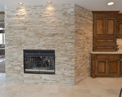 stacked fireplace kitchen traditional with direct