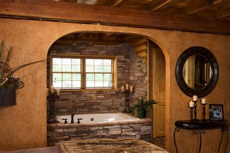 home design elements llc log home caldwell traditional bathroom other by