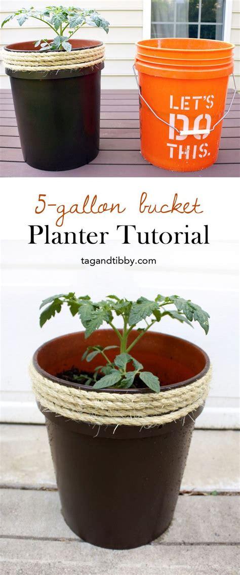 planter    gallon bucket tag tibby