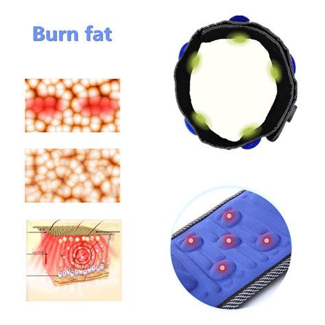 Alat Pelangsing Getar sabuk getar pelangsing tubuh heat function blue