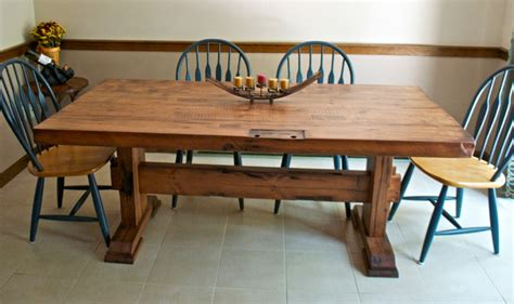 reclaimed barn door dining table rustic dining room