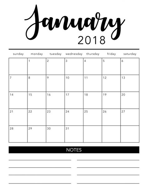 printable calendar black and white the craft patch free printable calendar 2018 roundup