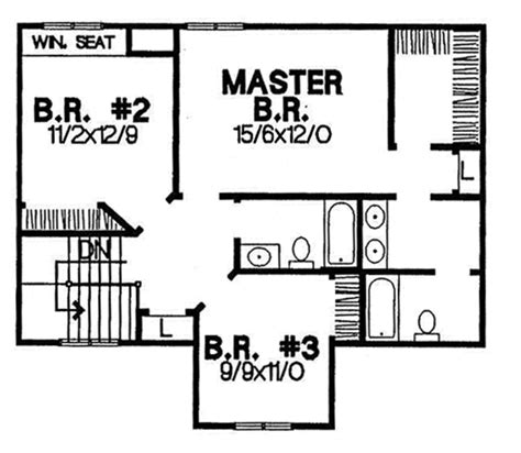 traditional 4 beds 3 baths 1856 sq ft plan 44 162 main traditional style house plan 3 beds 2 50 baths 1856 sq