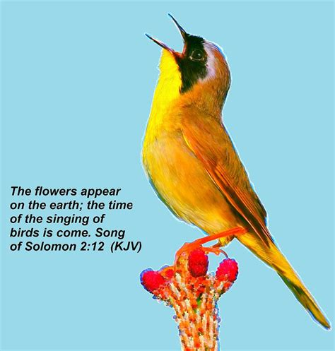 singing of birds is come painting by bruce nutting