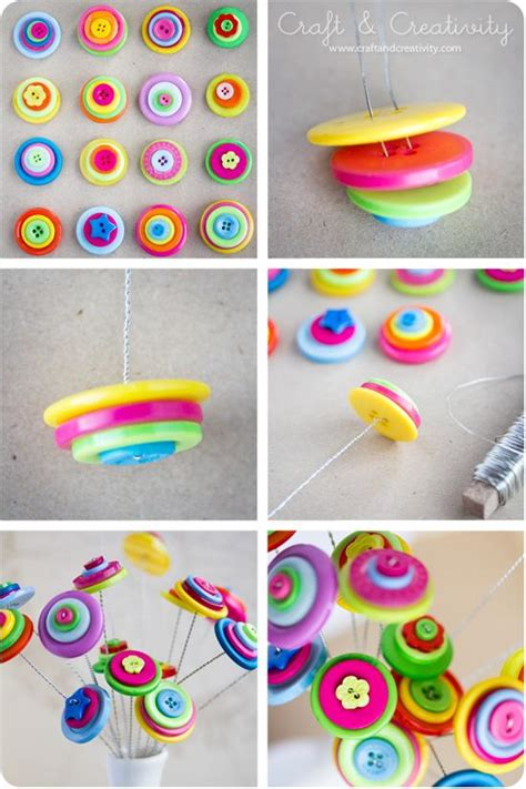 diy arts and craft 23 easy to make and extremely creative button crafts tutorials
