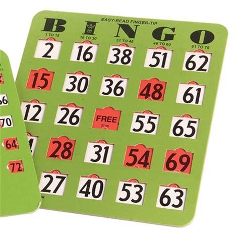 bingo set easy read bingo cards set flaghouse