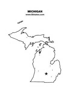Printable Outline Of Michigan by Michigan Map