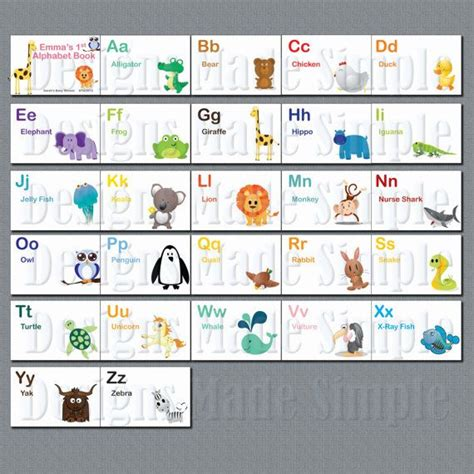 alphabet book template baby s alphabet book baby shower activity