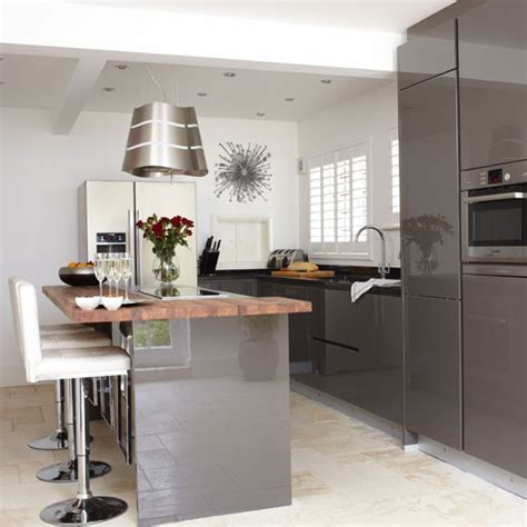 Grey Gloss Kitchen Cabinets by Mad About Grey Kitchens