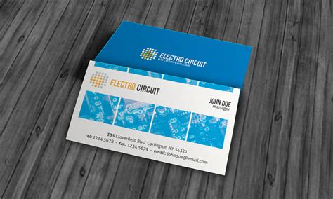 Electronic Card Templates by Unique Electrical Business Card Template 187 Free