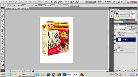 pattern photoshop box photoshop 3d cereal box technique tutorial youtube