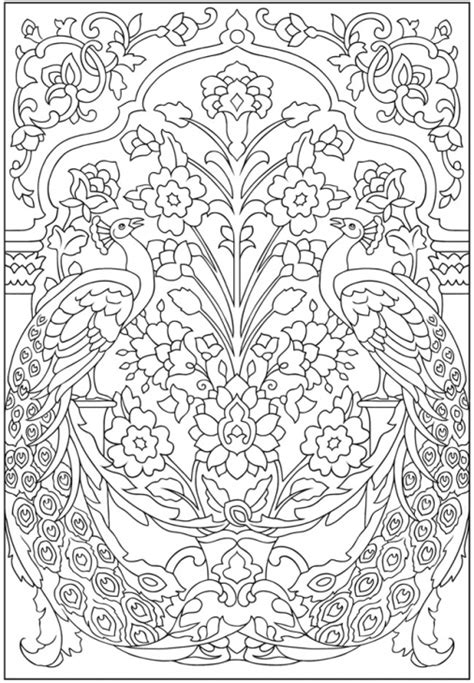 advanced coloring pages pinterest amazing peacock pattern advanced coloring page for grown