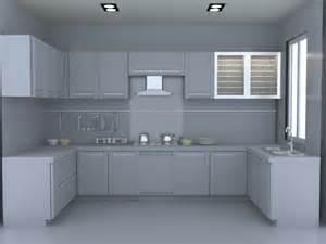 3d kitchen cabinets u kitchen layout design 3d model 3dsmax files free download modeling 16447 on cadnav