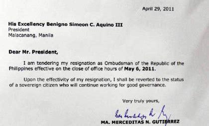 Immediate Resignation Letter Call Center Philippines Politekon April 2011