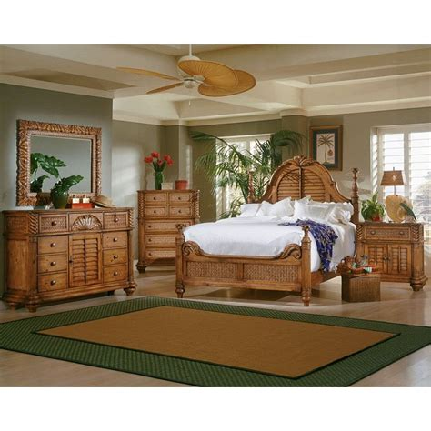 palm court poster bedroom set island pine progressive furniture furniture cart
