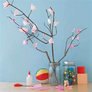 How To Make A Cherry Blossom Tree Out Of Paper - tissue cherry blossom tree martha stewart
