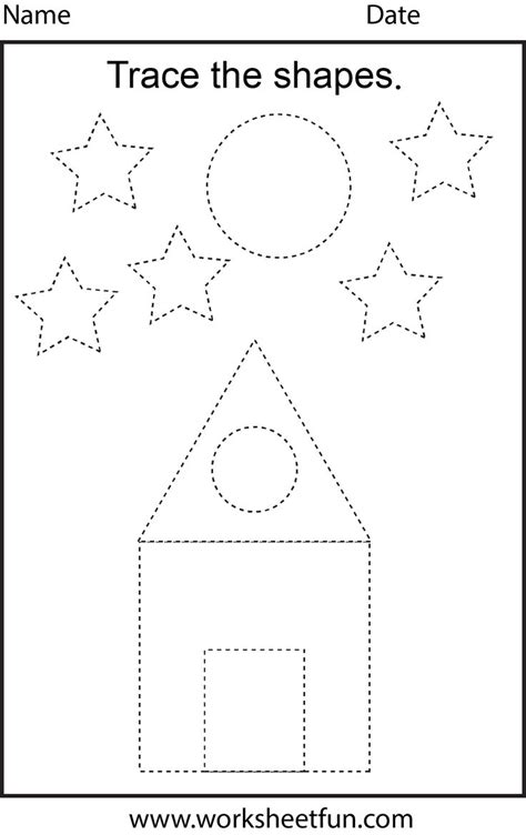printable tracing worksheets for grade 1 shapes tracing printable worksheets pinterest