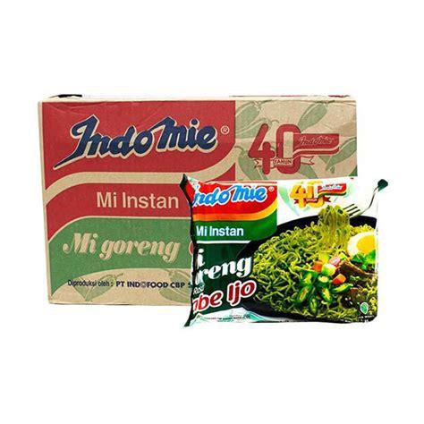 Indomie Goreng Isi 40 Pcs jual indomie goreng cabe ijo makanan instan 1 dus 40 pcs
