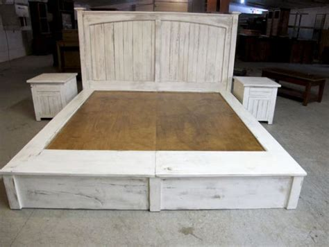king size bed plans  drawers woodworking projects