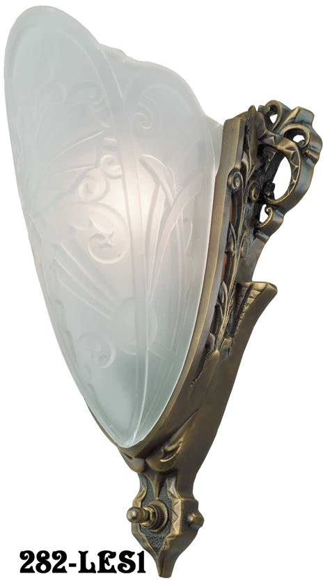 art deco slip shade medieval sconce modernism