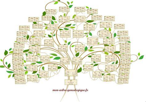 modele arbre genealogique gratuit 10 niveaux arbre exemple arbres g 233 n 233 alogiques pinterest family