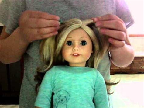 cute hairstyles on my american girl doll ali youtube
