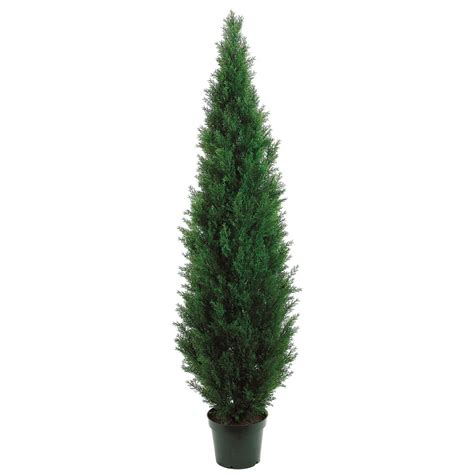 Trees Artificial - 7 foot outdoor artificial cedar tree potted 7ftced