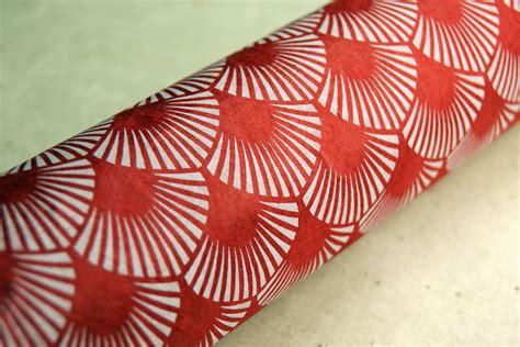 Handmade Paper Fans - recycled paper gift wrap lotka fiber fan print
