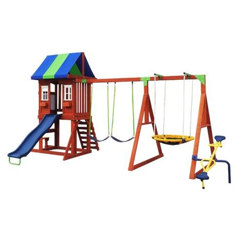 swing academy montana wooden swing set academy